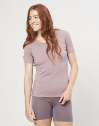 T-Shirt für Damen - exklusive Bio Merinowolle Altrosa
