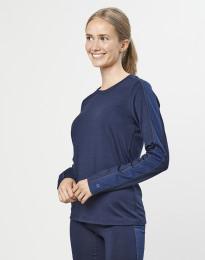 Damen Unterhemd exklusive Bio Merinowolle Navy