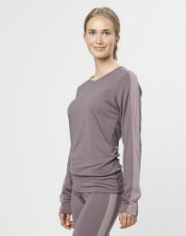 Damen Unterhemd exklusive Bio Merinowolle Lavendelgrau