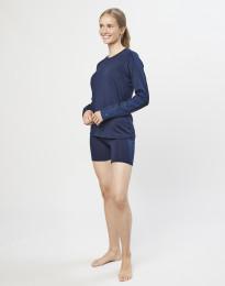 Shorts für Damen - exklusive Bio Merinowolle Dunkelblau