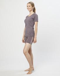 Shorts für Damen - exklusive Bio Merinowolle Lavendelgrau