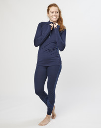 Merino Leggings für Damen Navy