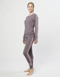 Leggings für Damen exklusive Bio Merinowolle Lavendelgrau