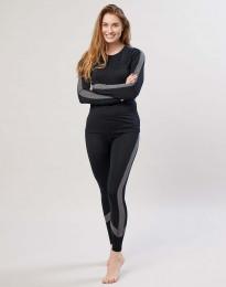 Leggings für Damen exklusive Bio Merinowolle Schwarz