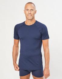 T-Shirt für Herren - exklusive Merinowolle Navy