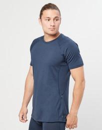 Herren T-Shirt - natürliche exklusive Merinowolle Graublau