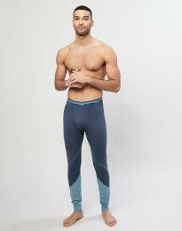 Lange Unterhose aus exklusiver Bio Merinowolle Graublau