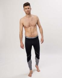 Lange Unterhose aus exklusiver Bio Merinowolle Schwarz