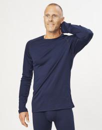 Herren Shirt aus exklusiver Bio Merinowolle Navy