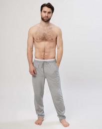 Herren Schlafanzughose aus Baumwolle graumeliert