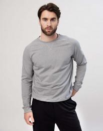 Sweatshirt für Herren aus Baumwolle graumeliert