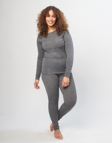 Damen Merino Leggings - Grau