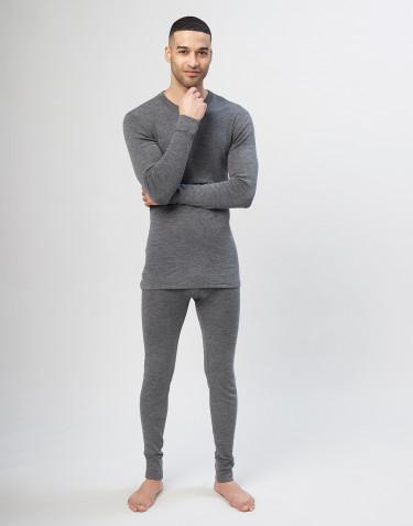 Lange Unterhosen für Herren aus Merinowolle - Grau
