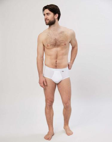 Premium Classic - Baumwoll Slip mit Eingriff für Herren