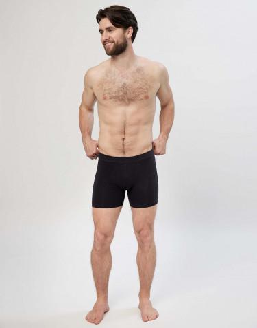Premium Classic - Baumwoll Boxershorts mit Eingriff für Herren schwarz