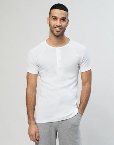 Premium Classic - Baumwoll Shirt mit Knopfleiste für Herren weiß