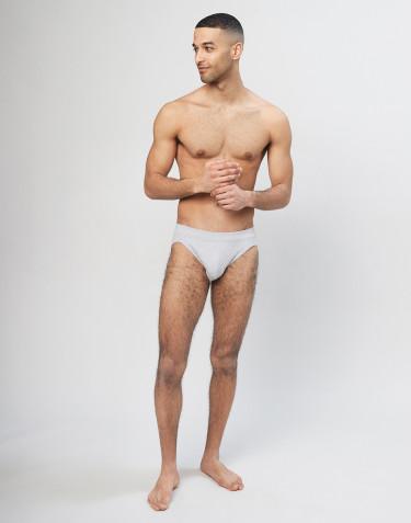 Herren Sportslip aus Baumwolle grau