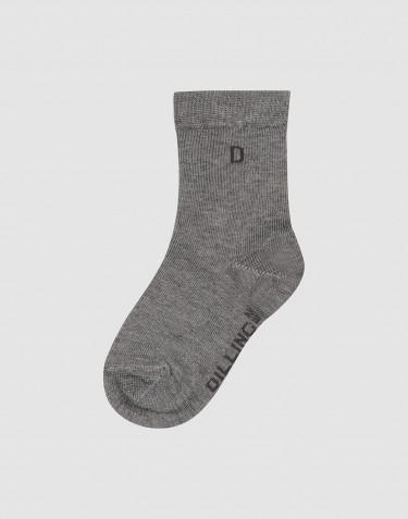 Kinder Socken Bio Baumwolle Grau meliert