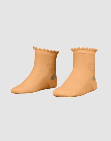 Socken für Kinder mit Blumen - Bio Merinowolle