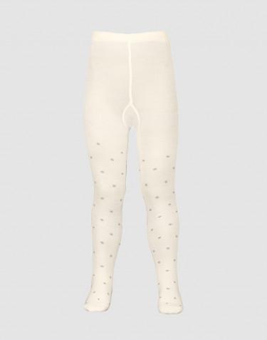 Kinder Strumpfhose - Bio Merinowolle natur mit Punkten
