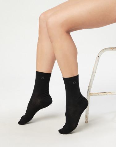 Damen Socken - natürliche Merinowolle schwarz