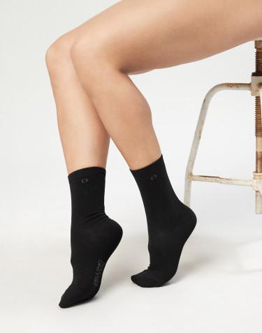 Damen Socken - Bio Baumwolle schwarz