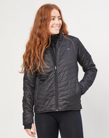 Outdoorjacke Damen - recyceltes Polyester/ Merinowolle schwarz