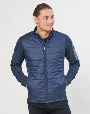 Hybridjacke für Herren mit Reißverschluss - Merino/ recyceltes Polyester dunkelblau