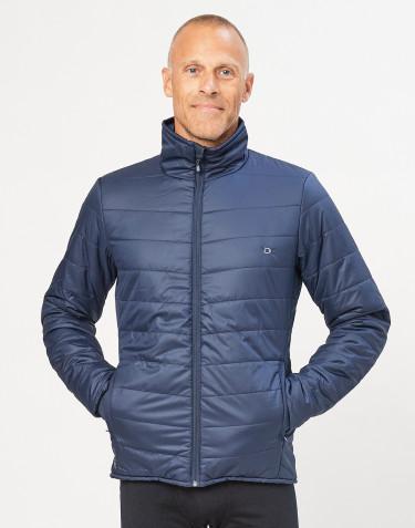 Outdoorjacke Herren - recyceltes Polyester/ Merinowolle dunkelblau