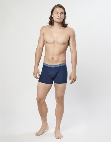3er-Pack Boxershorts mit Eingriff aus Baumwolle blau