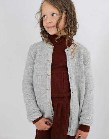 Kinder Cardigan mit langen Ärmeln Grau meliert