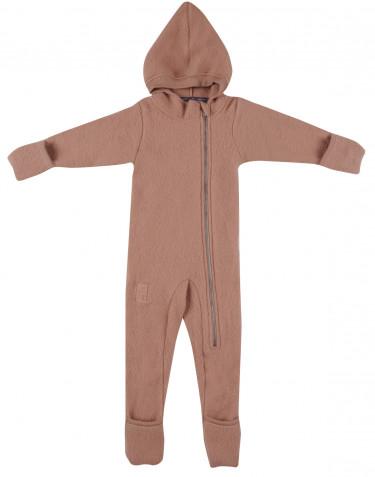 Anzug für Babys aus Merino Wollfleece puder