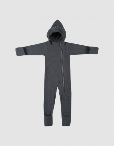 Overall für Babys aus Wollfleece dunkelgrau