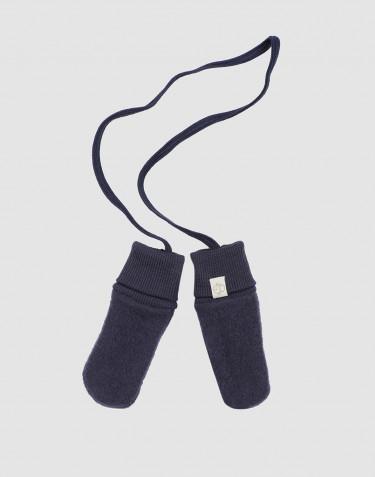 Handschuhe für Babys aus Merino Wollfleece Blau