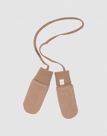 Handschuhe für Babys aus Merino Wollfleece Zimt
