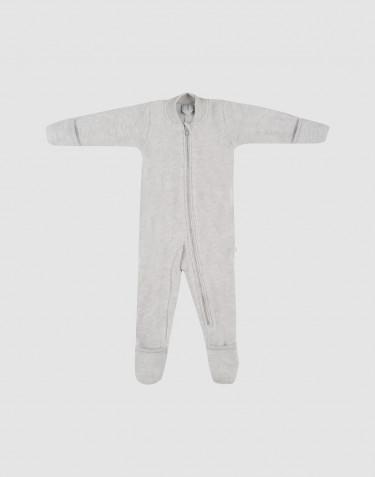 Anzug aus Wollfleece ohne Kapuze hellgrau