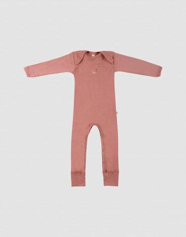 Merino Anzug für Babys Dunkelrosa