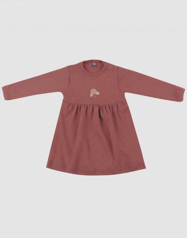 Merino Wollkleid für Babys Rouge