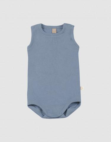 Wollbody für Babys ohne Ärmel blau
