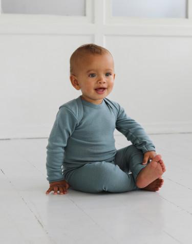 Einteiler aus Merinowolle für Babys