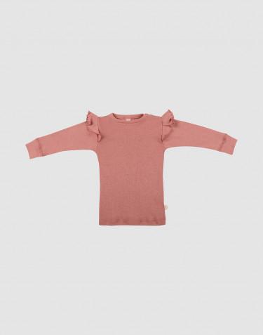 Merino Langarmshirt mit Rüschen für Babys
