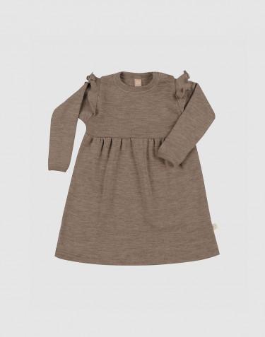 Kleid mit Rüschen aus Merinowolle für Babys