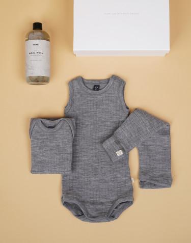 Baby Paket Grau Grüße 74