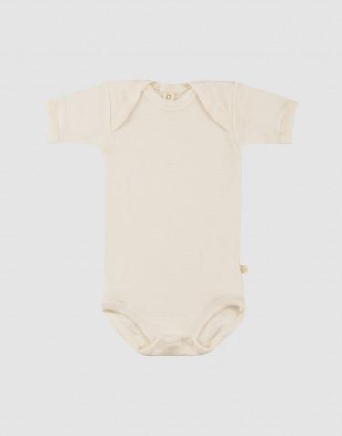 Baby Body kurzarm - Bio Merinowolle natur