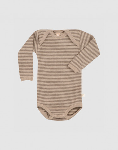 Langarmbody aus Merinowolle für Babys