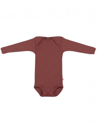 Langärmliger Baby Body Rouge