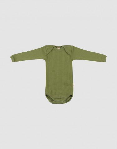 Langärmliger Body für Babys aus Merinowolle