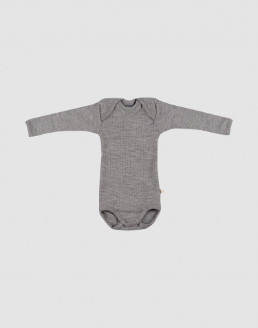 Gerippter Baby Body graumeliert