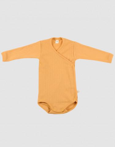 Baby Wickelbody in Rippstrick Gelb