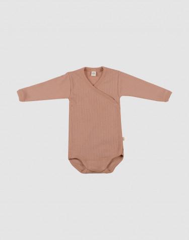 Merino Wickelbody für Babys Puder